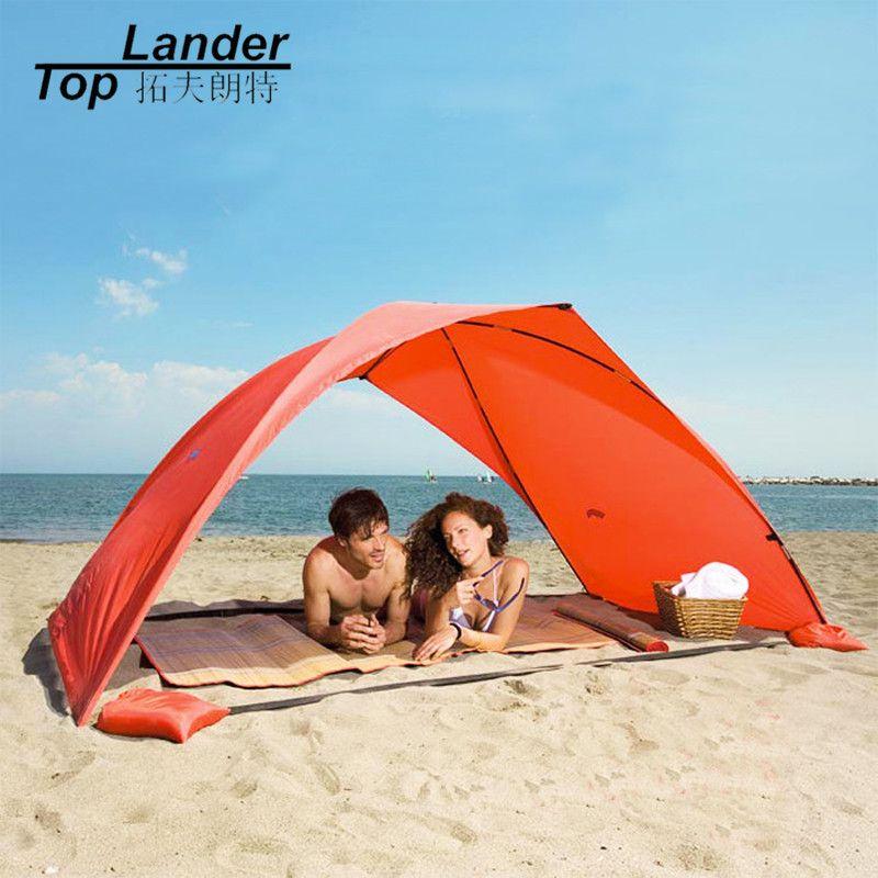 Portable plage tente Cabana soleil ombre auvent pêche abri tentes auvent parasol échoutente été UV plage parapluie tente