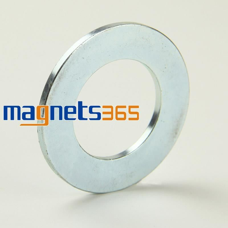 OMO Magnetics 2 pc Disque Anneau Fraisé Aimant 50mm x 3mm Trou 28mm Néodyme de Terre Rare N35