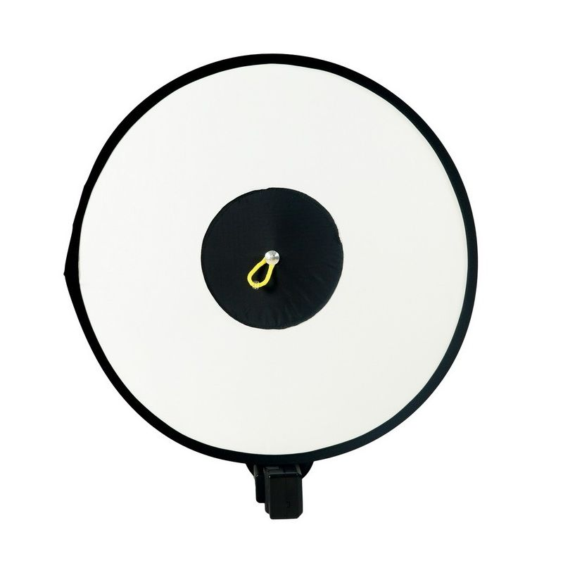 Collapsible Difusor Flash Round Ring Dish Foldable Camera Flash Diffuser Softbox Reflector For Speedlite Flash w/ Carrying Bag