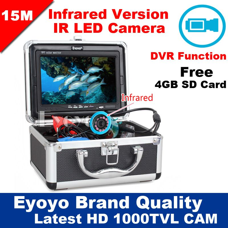 Eyoyo Original 15M 1000TVL HD CAM Professional Fish Finder Underwater Fishing Video Recorder DVR 7