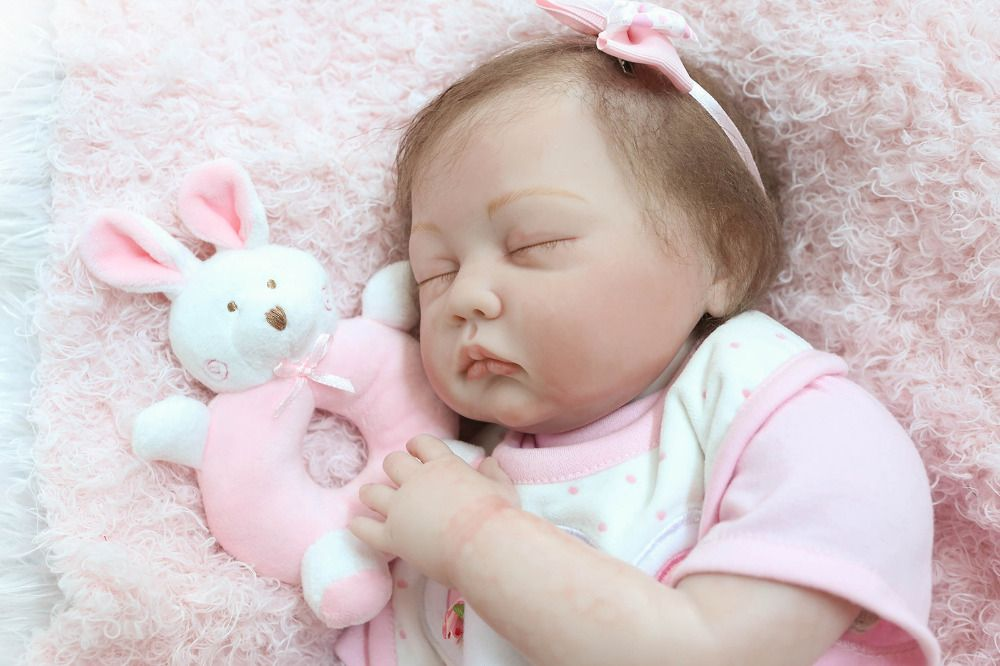 55cm New Exquisite silicone Reborn Baby Doll Toys Lifelike NPKCOLLECTION Newborn Babies Girls Brinquedos Child's Christmas Gift