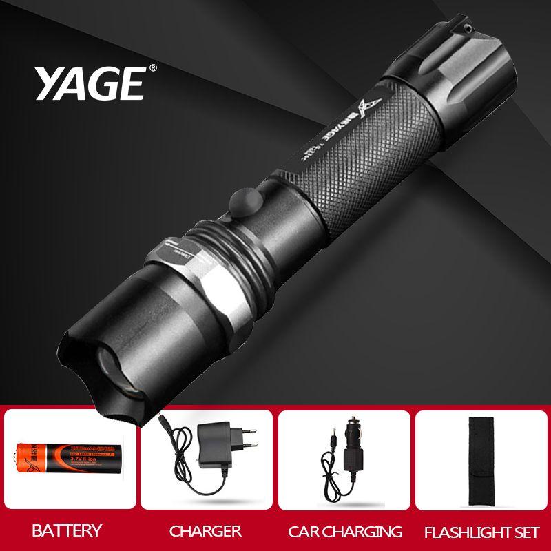YAGE 336C Rechargeable 18650 flashlight cree Led Flashlight Torch Lanterna Torche Lampe Lantern lampe de poche Zoomable Flash