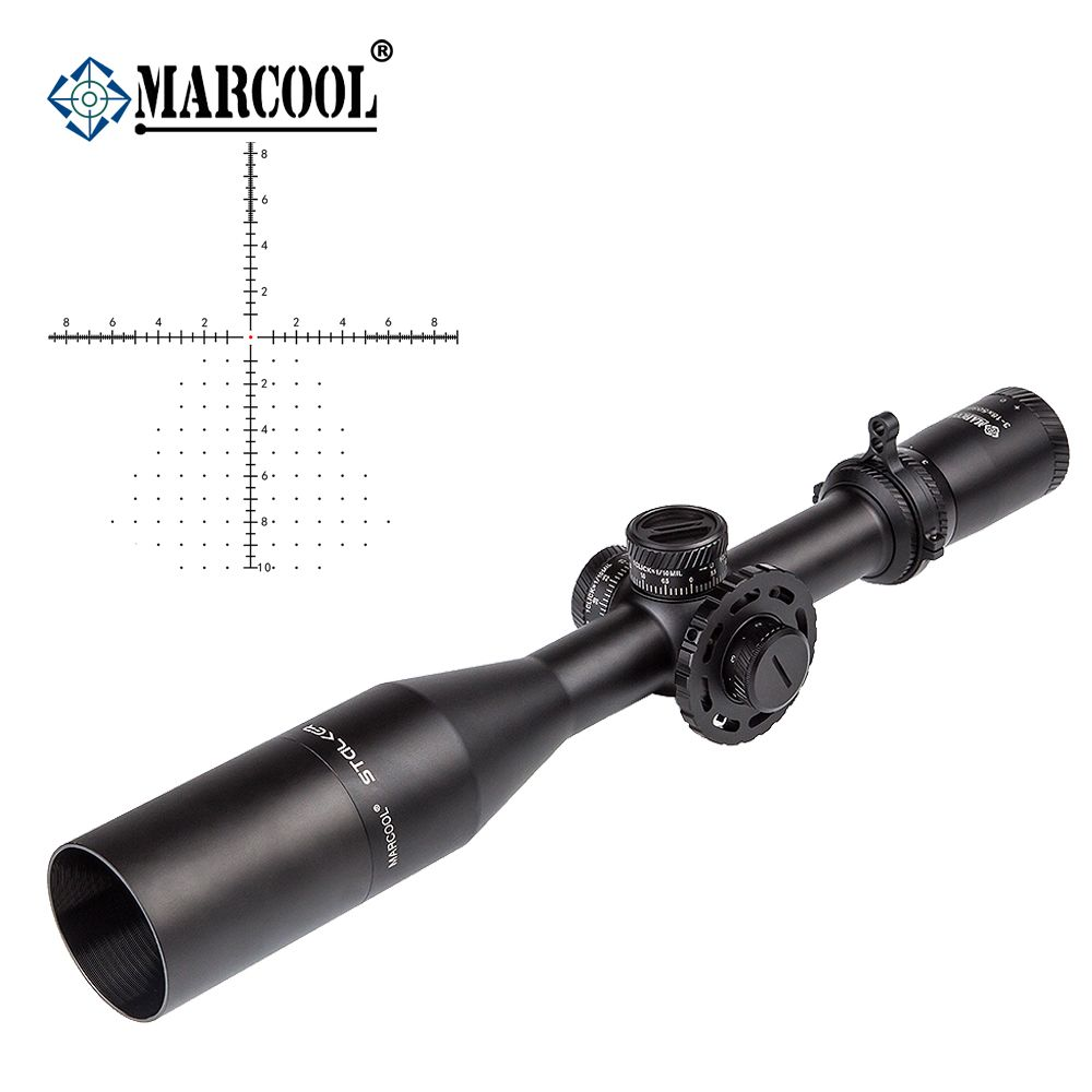 AK Marcool Stalker Optics 3-18x50 FFP HD Optical Aim Red Dot Tactical Telescopic Sights Rifle Scope Collimator Sight For Hunting
