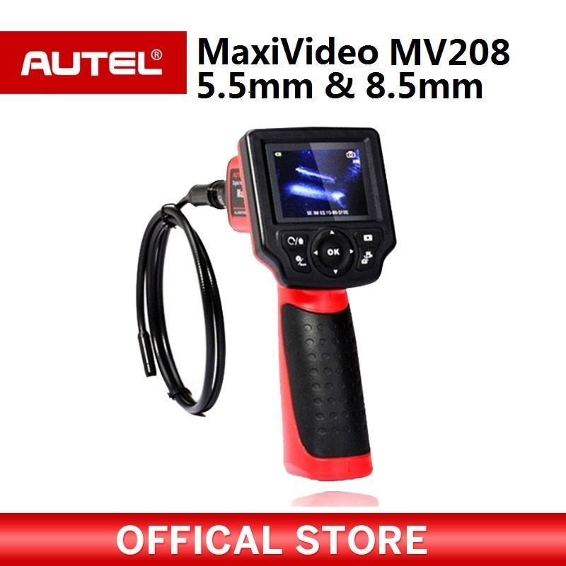 Autel Maxivideo MV208 Digital Videoscope 8.5mm and 5.5mm Diameter Imager Heads Record Still Images and Videos etc.