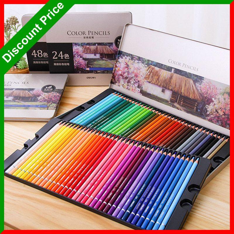 Premium 24/36/48/72 Crayons de Couleur lapices de couleurs Professionnel Noyau Souple Coloré Ensemble de Crayons de Dessin pour Livres à Colorier