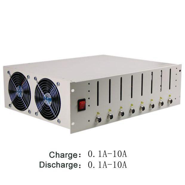 EBC-X 8 Kanäle 18650 Batterie Kapazität Tester mit Batterie Halter Lade & Entladung 10A Aging Test