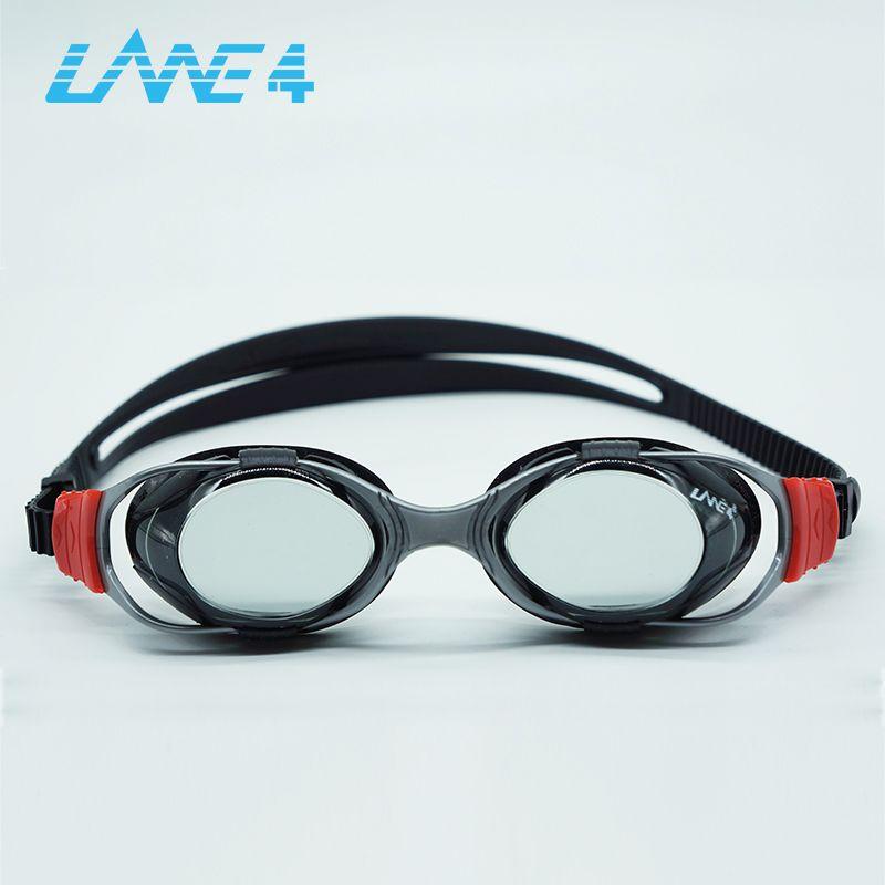 Lane4 marke neue Professionelle Schwimmbrille Anti-Fog UV Einstellbare Beschichtung männer frauen Wasserdichte silikon brille erwachsenen Brillen