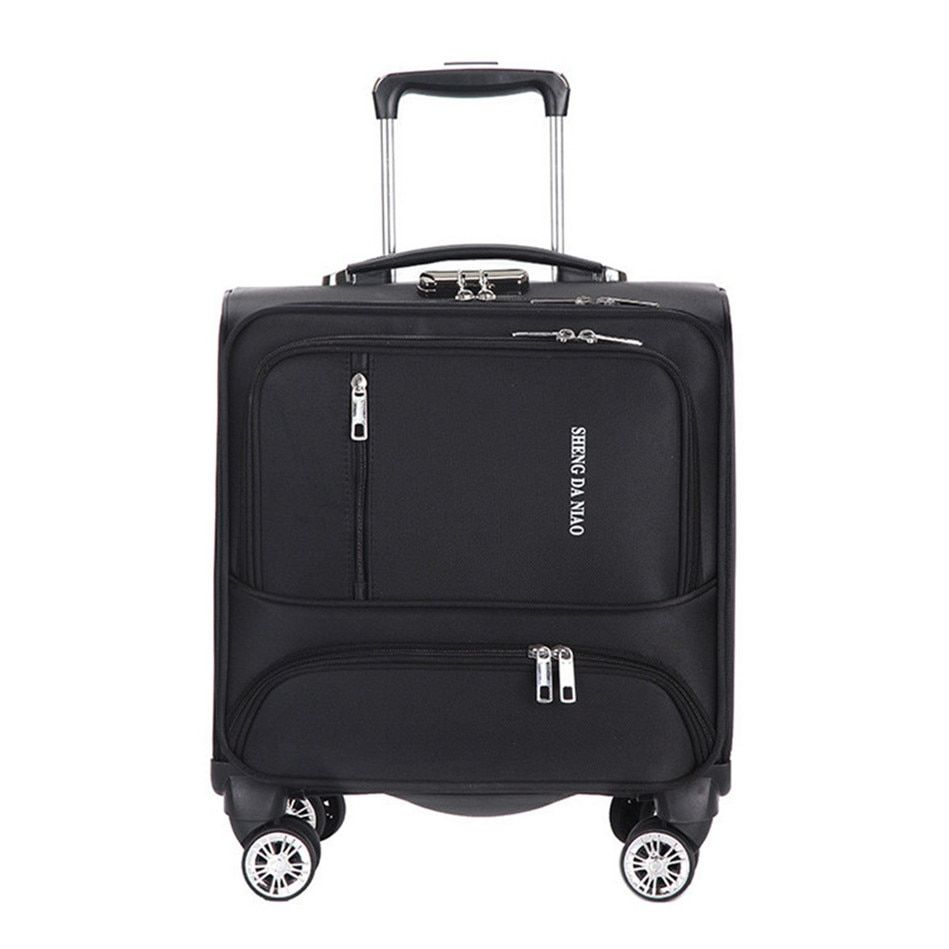18 INCH Waterproof Oxford Suitcase Trolley Luggage Business Trolley Case Men's Suitcase Women Travel Luggage Bag Rolling valise