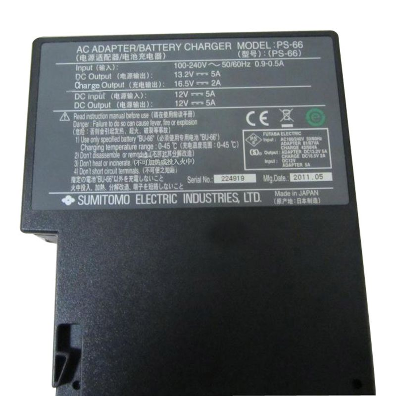 Original For SUMITOMO Type-39 PS-66 Fiber Optic Fusion Splicer charger AC adapter PS-66 Adapter BY DHL