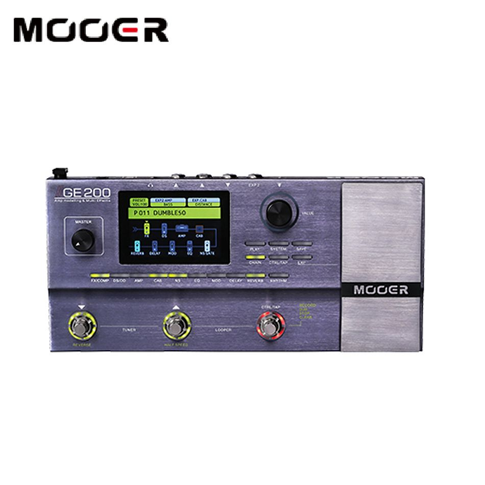 MOOER GE200 Amp modelling & Multi effects 55 high quality amplifier models