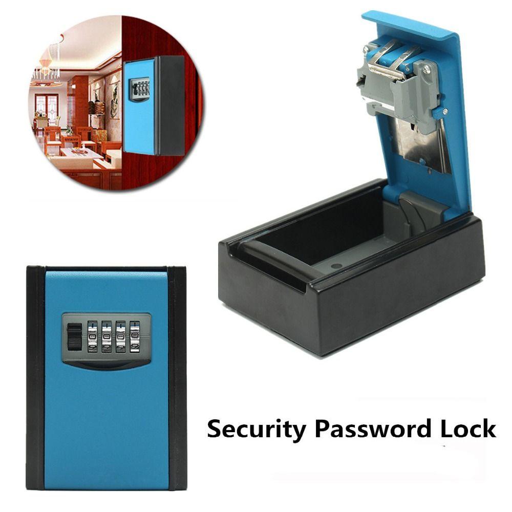 NEUE Safurance 4 Digit Kombination Passwort Sicherheit Schlüssel Box Lock Vorhängeschloss Organizer Wand Hause Sicherheit Schutz