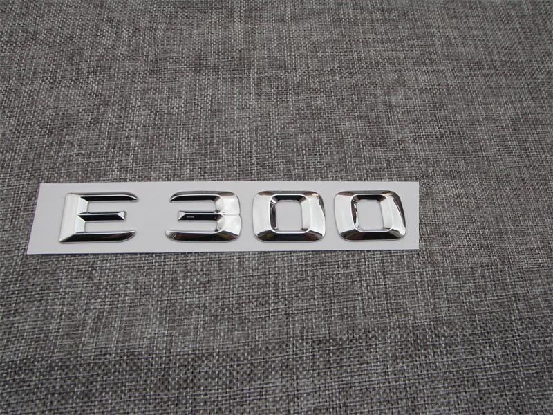 Chrome ABS Plastic Car Trunk Rear Letters Badge Emblem Decal Sticker for Mercedes Benz E Class E300