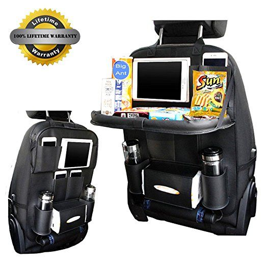 Bigant новые заднем сиденье автомобиля организатор сумка из искусственной кожи многофункциональный багажник Организатор Портативный тканев...