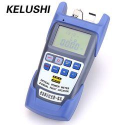 KELUSHI todo-en-uno medidor de energía óptica de fibra-70 ~ + 10dbm y 10 MW 10 km fibra óptica Cable Tester Pen localizador Visual