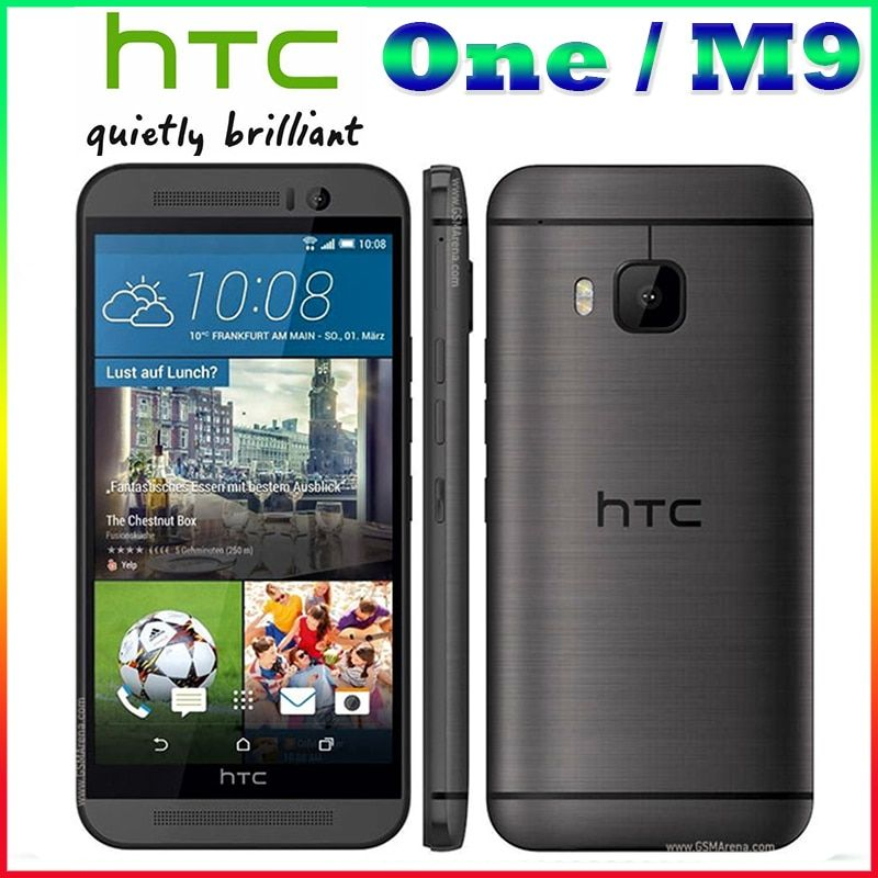M9 Unlocked HTC ONE M9 Mobile phone Quad-core 5.0 TouchScreen Android GPS WIFI 3GB RAM 32GB ROM Cell phones Free shipping