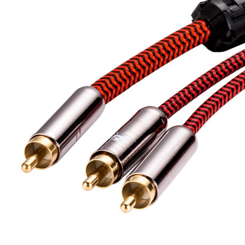 Audiophile 1:2 RCA Y Câble Hifi Audio RCA à Double RCA Splitter Amplificateur câble pour caisson de graves Blindé OFC 1 M 2 M 3 M 5 M 8 M