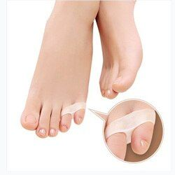 4pcs = 2 pairs Silicone Little toe pinky pinkie toe pads orthotics separator Tail toe pad straightener daily use 4 pcs insole