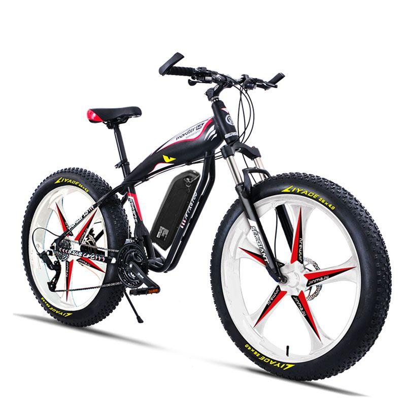 Nach 26inch Ebike elektro mountainbike fett 4,0 versucht schnee strand off-road 5 speichen rad 48V 750W high speed motor EMTB
