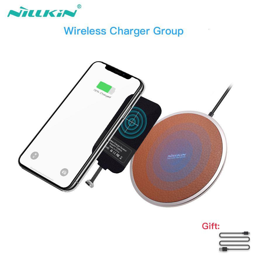 Nillkin recharge sans fil pad avec sans fil chargeur récepteur Pour xiaomi mi 8 pour pocophone f1 un plus 6 pour huawei P20 p20 Pro