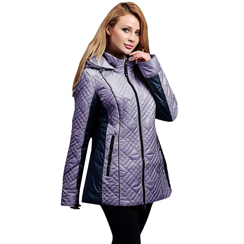 Осенние и зимние куртка Дамская Мода короткие тонкий теплое пальто с капюшоном для Европы и США брендов Большие размеры 46-56 V305