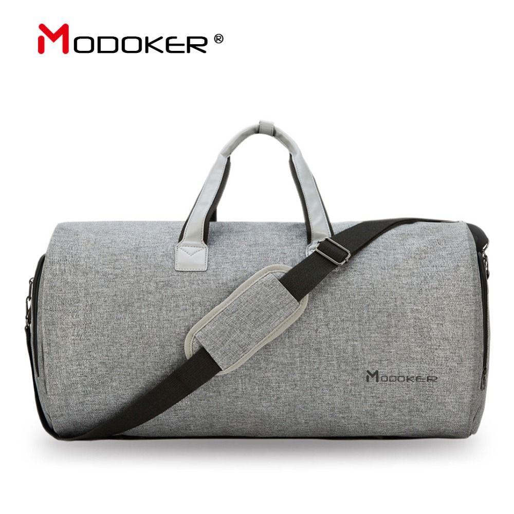 Modoker sac de vêtement de voyage avec bandoulière sac polochon continuer à accrocher valise vêtements sac d'affaires plusieurs poches