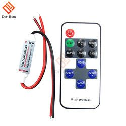 1Set 12V RF Mini Wireless Controller Switch LED Dimmer with Remote Switch Mini In-line LED Light Controller/Dimmer