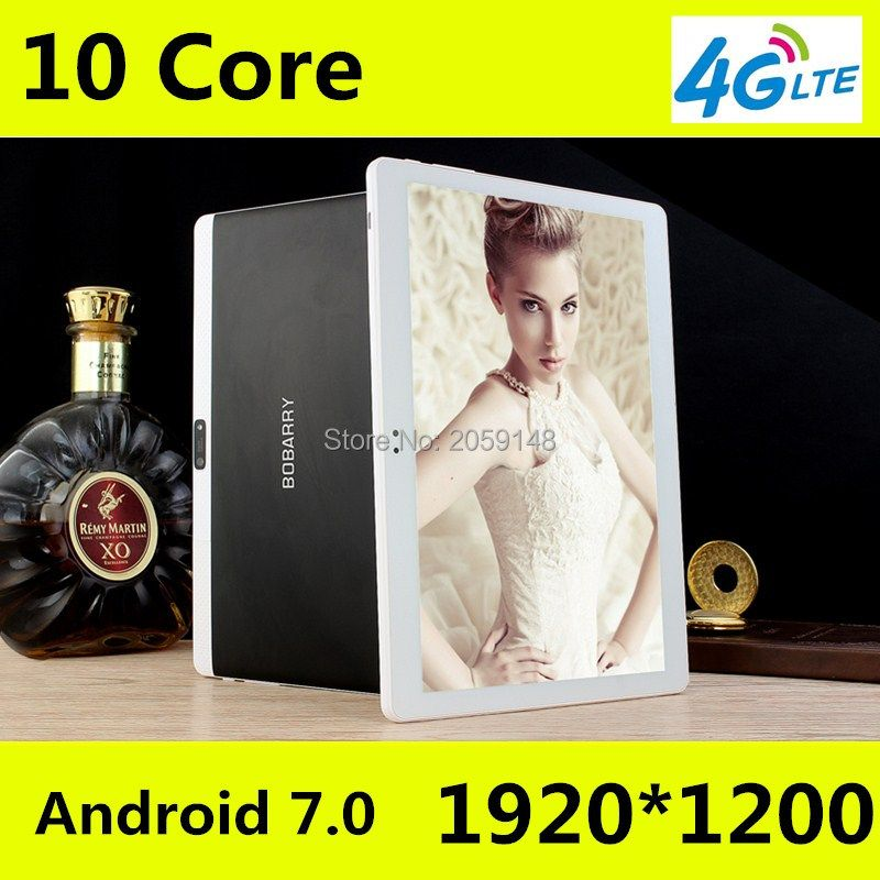 Neueste Android 7.0 Deca Core 10 ''Tablet PC 4 GB RAM 64 GB ROM zoll 1920X1200 8MP 6000 mAh WIFI GPS 4G LTE kostenloser versand