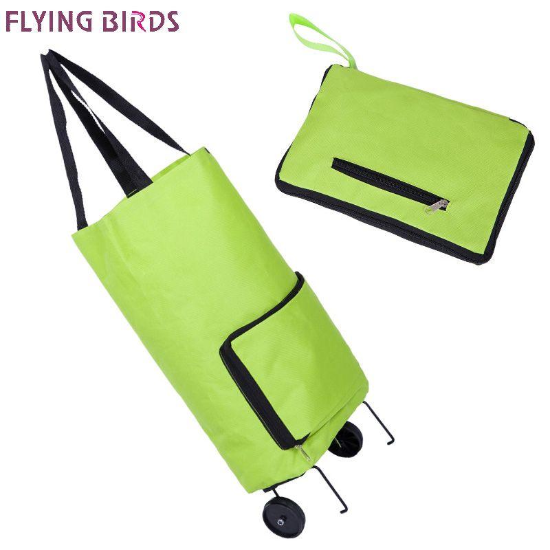 Pájaros de vuelo bolsa de viaje plegable equipaje ultraligero bolsa de viaje grande capacidad de la rueda universal retráctil tirón plegable caja a3463
