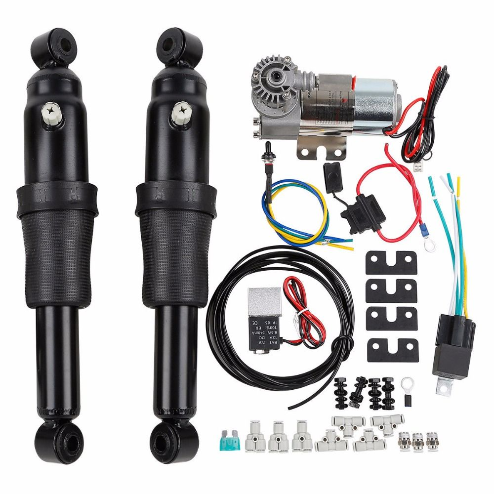 TCMT Adjustable Rear Air Ride Suspension Kit For Harley Touring Road King Bagger Electra Street Tour Glide 1994-2018 motorcycle