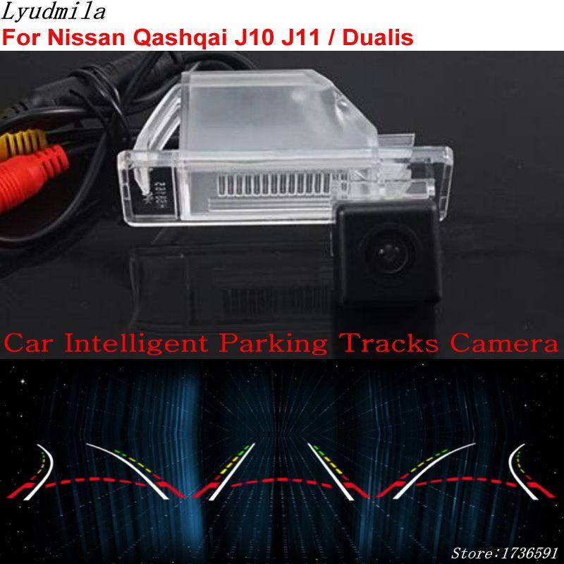 Lyudmila Car Intelligent Parking Tracks Camera FOR Nissan Qashqai J10 J11 / Dualis / HD Car Back up Reverse Rear View Camera