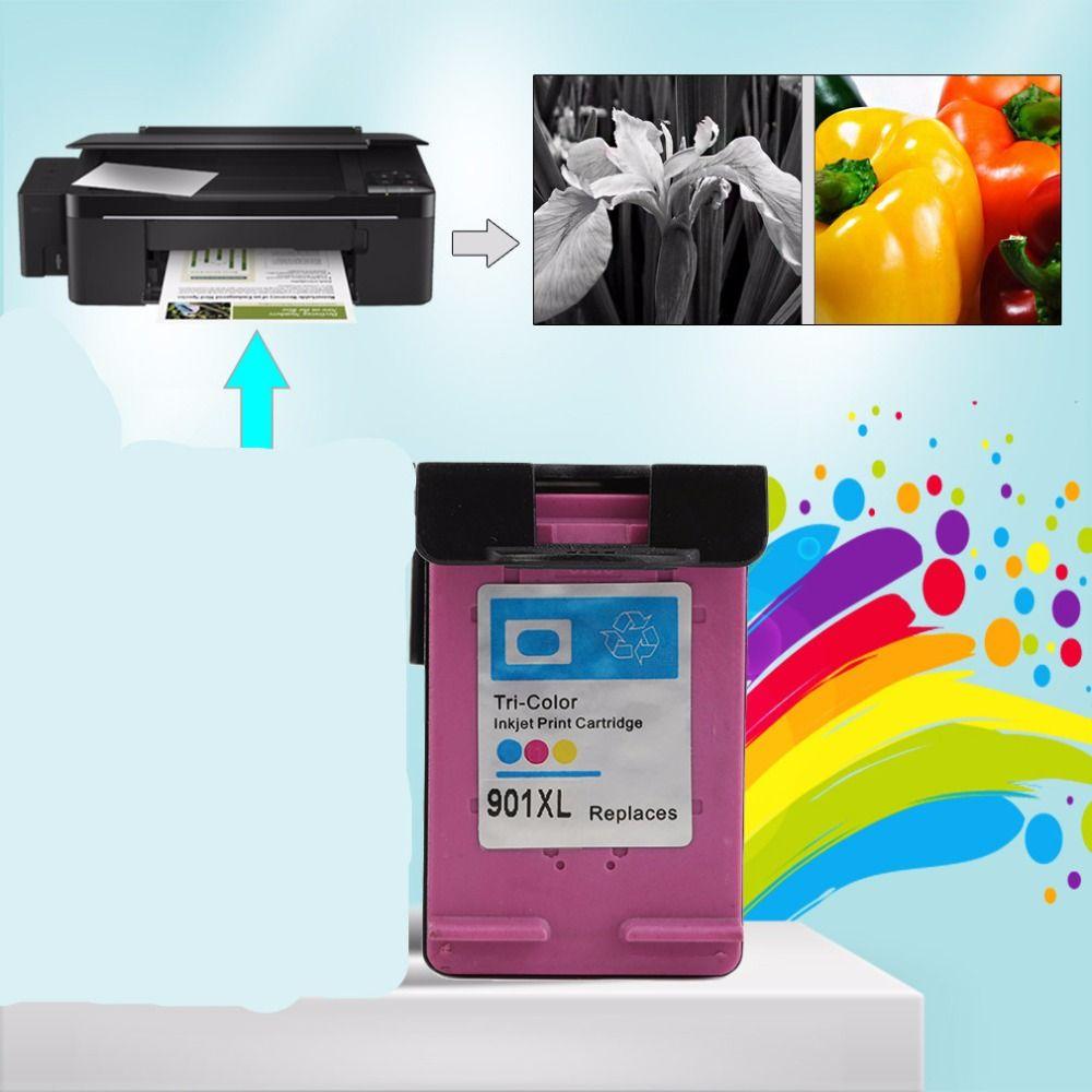 1pc Sets For HP901 XL HP901 Non-OEM Color Ink Cartridges For HP OfficeJet 4500 J4580 J4550 J4540 J4680 J4535 Printer