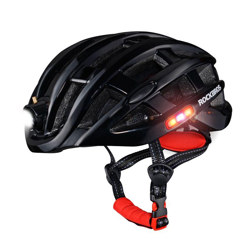 ROCKBROS 5 Farben Licht Radfahren Helm USB Aufladbare Männer Frauen Fahrrad Ultraleichte helm 49-59 cm MTB Road Fahrrad helm Sicher