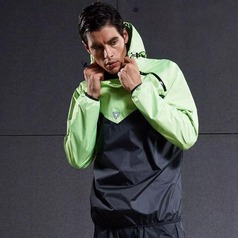 Men Running Jackets Windproof Long Sleeve Sports Hot Sweat Suit Sportswear Fitness Gym Sport Tops Workout Training Hooded Coat