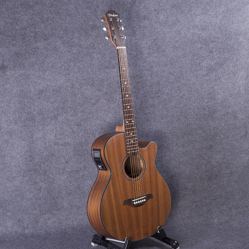 Guitar Acoustic Electric Steel-String Flattop Balladry Folk Pop 40 Inch Guitarra 6 String Red Light Cutaway Electro Sapele