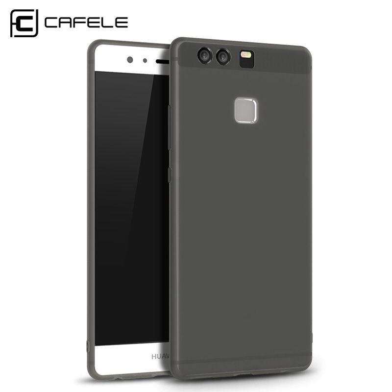 Cafele Luxus Matte TPU Fall für Huawei P9 Anti fingerprint Ultra Slim 0,6mm Matte Abdeckung für Huawei P9 Weiß/schwarz/Rosa/Grau