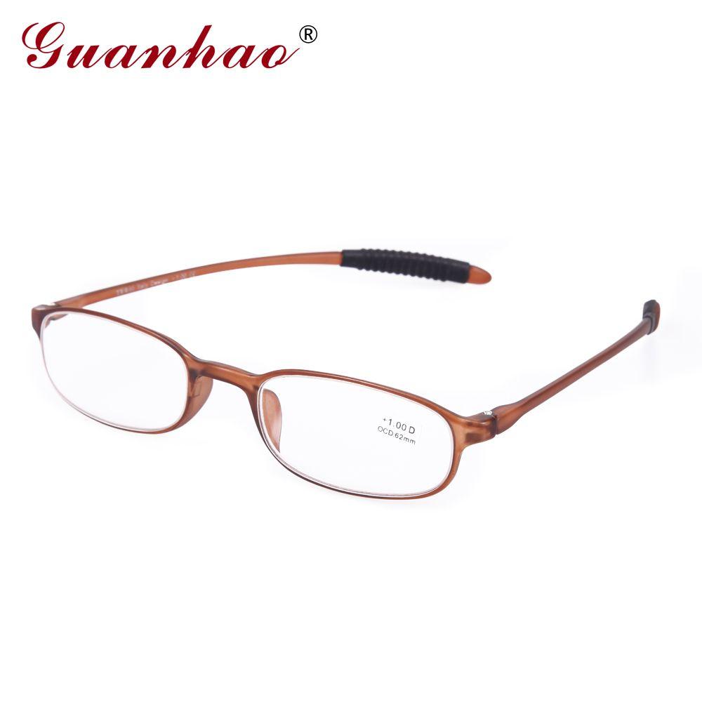 GUANHAO femmes rétro lunettes ultraléger mince lunettes de lecture unisexe cadre hommes femmes Points hyperopie lunettes 1.0 1.5