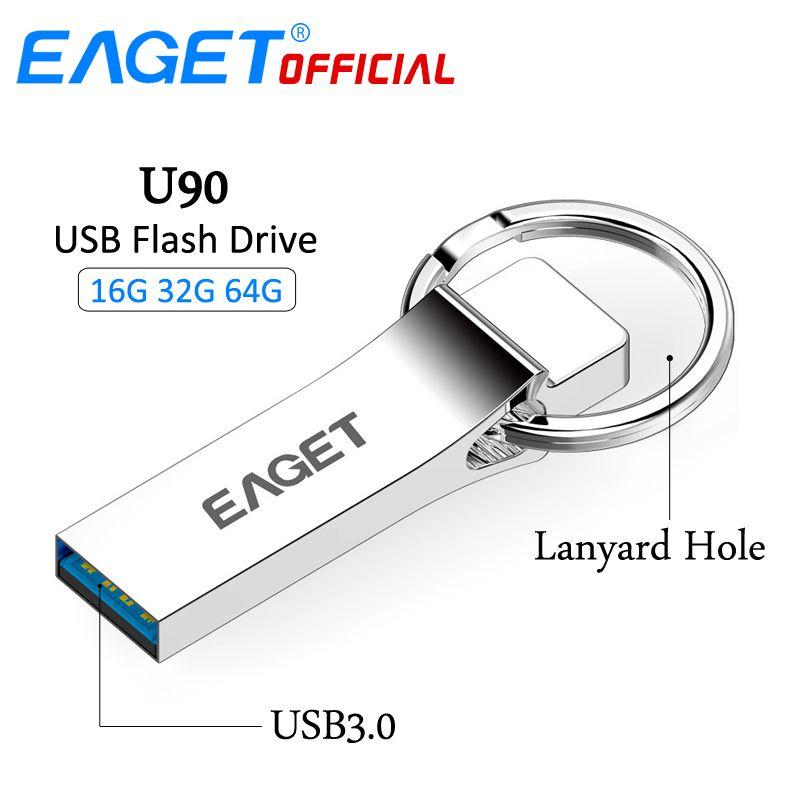 EAGET USB <font><b>Flash</b></font> Drive 64gb 32GB 16GB USB 3.0 High Speed Waterproof Memory <font><b>Flash</b></font> Stick Pen Drive Pendrive U Disk Storage Stick