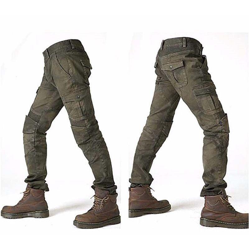 MOTORPOOL Komine UGB 02 Pantalons Jeans Moto Jeans Tour Loisirs Lâche Version Avec Genouillères Chevalier Pantalon D'été Pantalon D'équitation