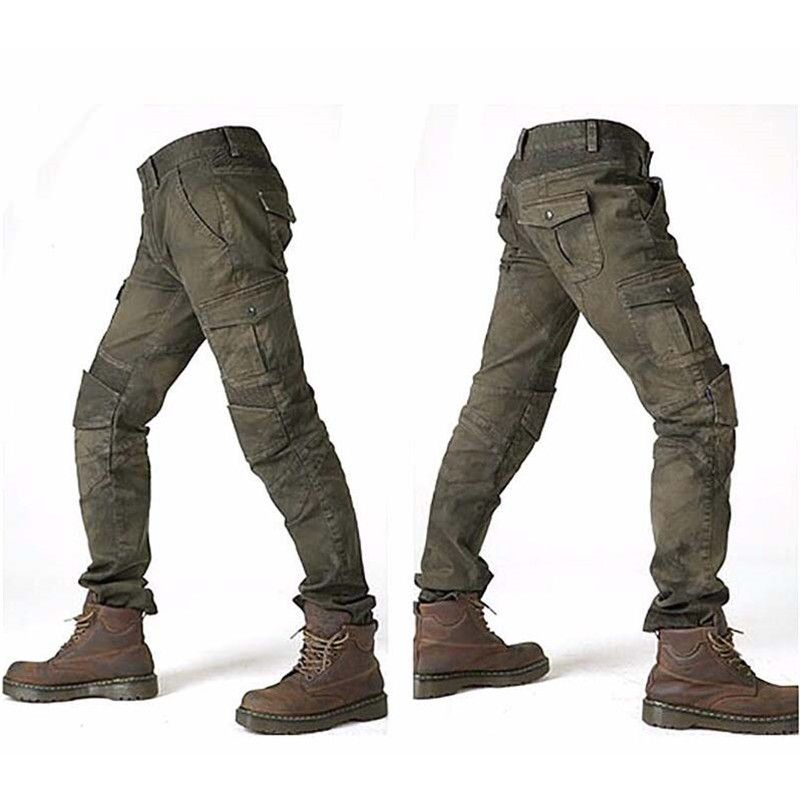MOTORPOOL Komine UGB 02 Slacks Jeans moto Ride Jeans loisirs Version lâche avec genouillères pantalon chevalier pantalon d'équitation d'été
