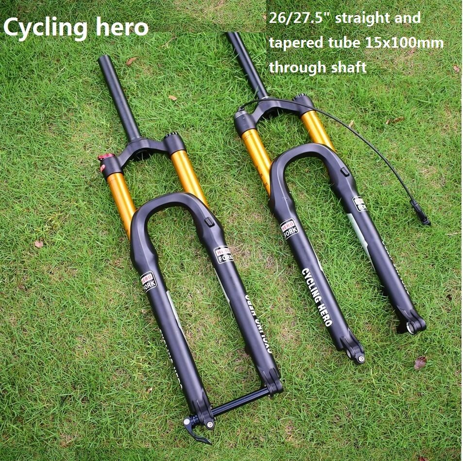 15x100mm through the shaft Mountain bike Air Suspension Fork Plug 26 and 27.5 inches Performance price exceeds FOX and SHOX