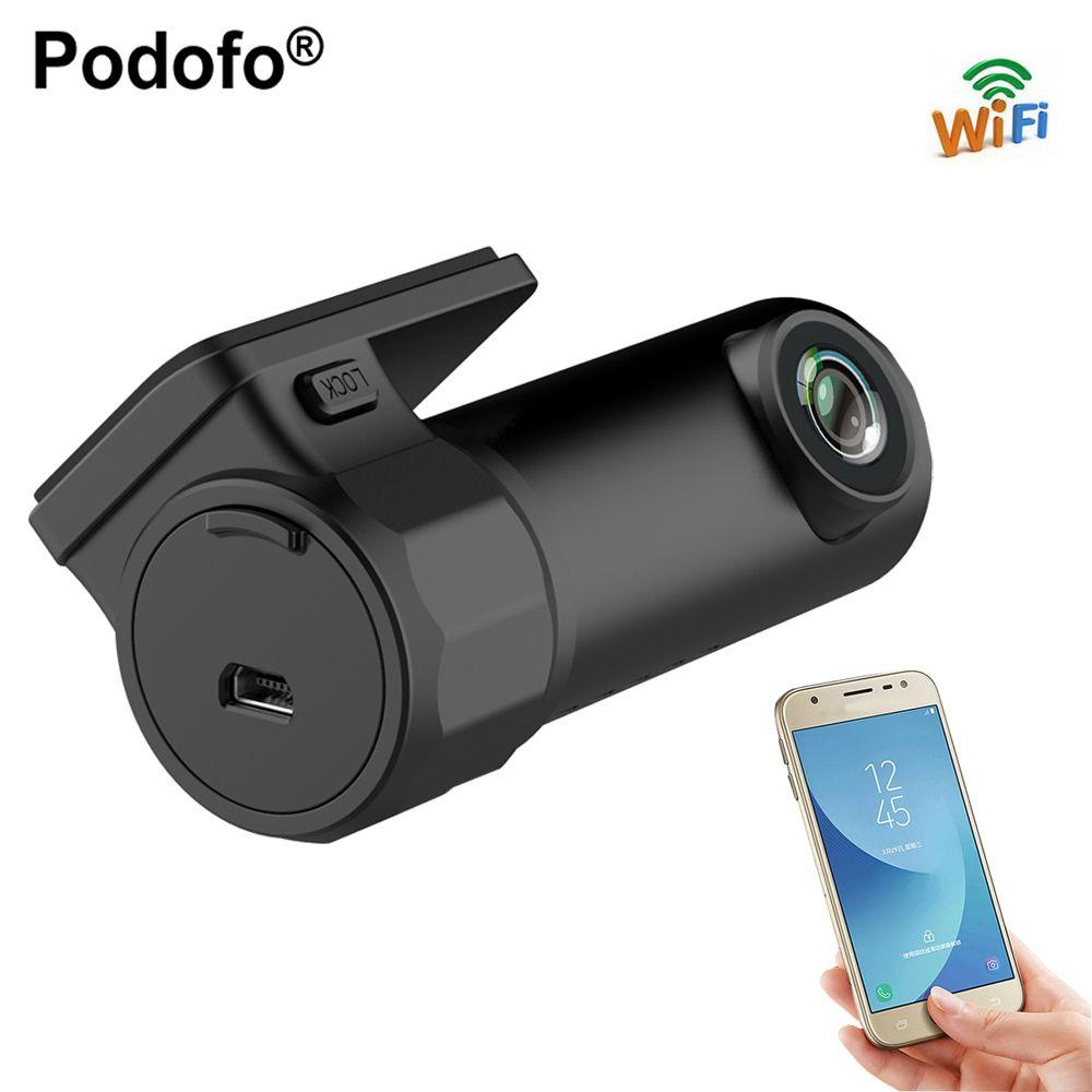 Podofo Dash Cam Mini WIFI Car DVR Camera Digital Registrar Video Recorder <font><b>DashCam</b></font> Auto Camcorder Wireless DVR APP Monitor