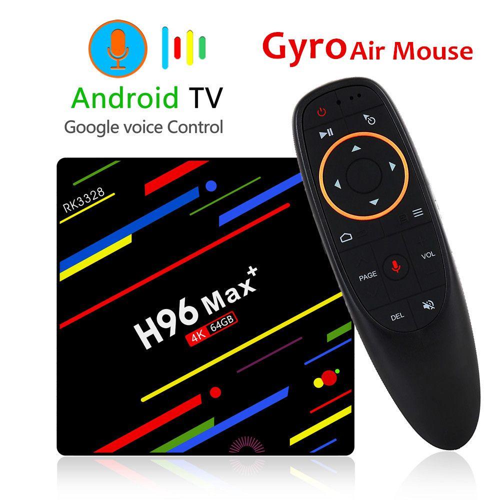 H96 MAX Plus TV Box Android 8.1 4GB 32GB 64GB Smart Set Top Box RK3328 Quad core 5G Wifi 4K H.265 Media Player H96 Pro H2 mini