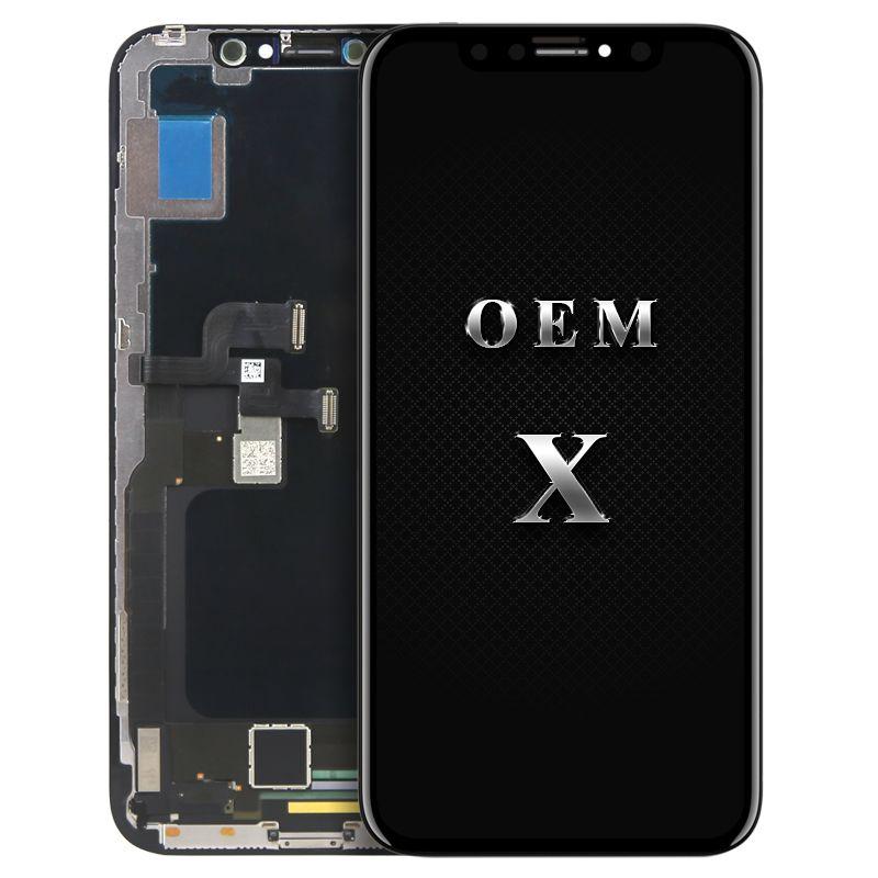 1 stück original OEM qualität Für iphone X LCD mit Touch Lcd-versammlungs-wiedereinbau-screen-display 100% neue & test mit DHL verschiffen