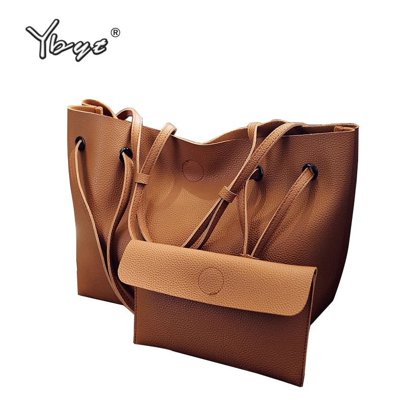 YBYT brand 2018 new casual female totes composite handbags ladies pack <font><b>hotsale</b></font> simple large capacity fresh women shoulder bags