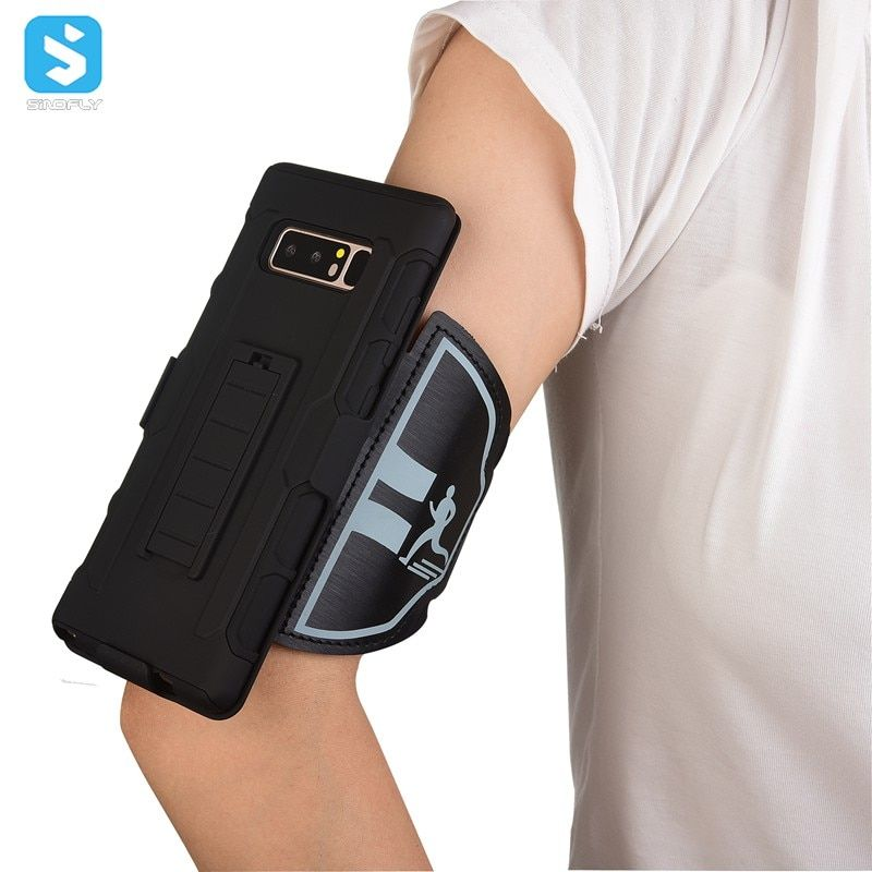Sporty Armband Kickstand Case for Samsung Galaxy Note 8 Cell Phone Sleeve With Arm band Wristband Holster & Clip