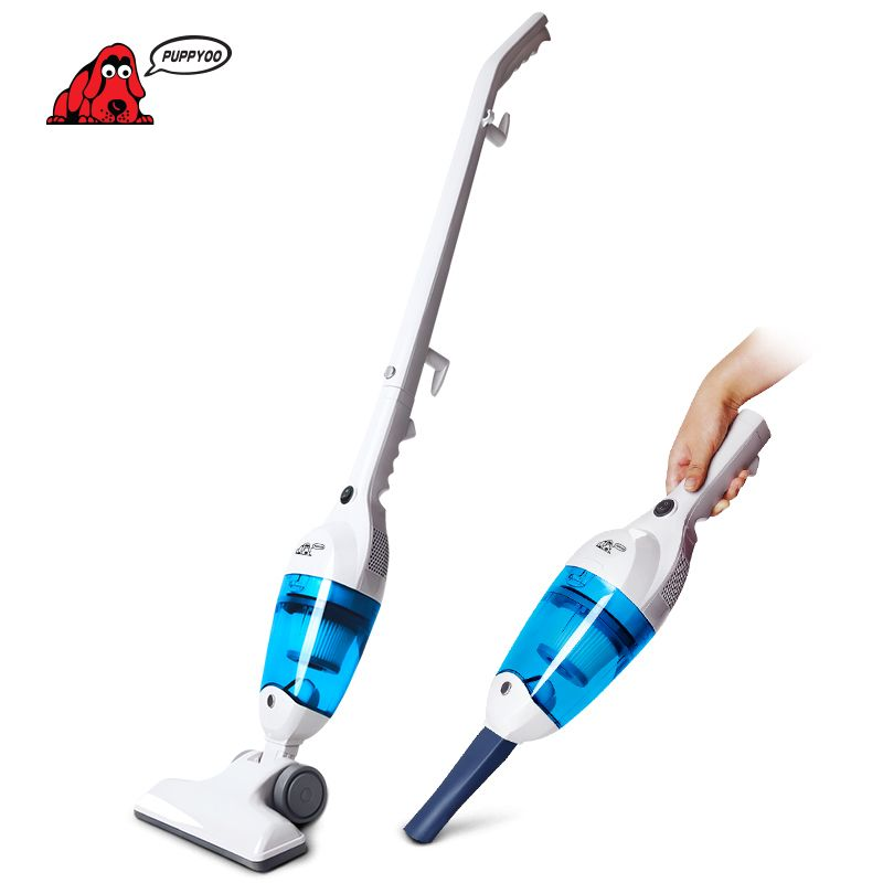 PUPPYOO New Low Noise Mini Home Rod Vacuum <font><b>Cleaner</b></font> Portable Dust Collector Home Aspirator Handheld Vacuum Catcher WP3006