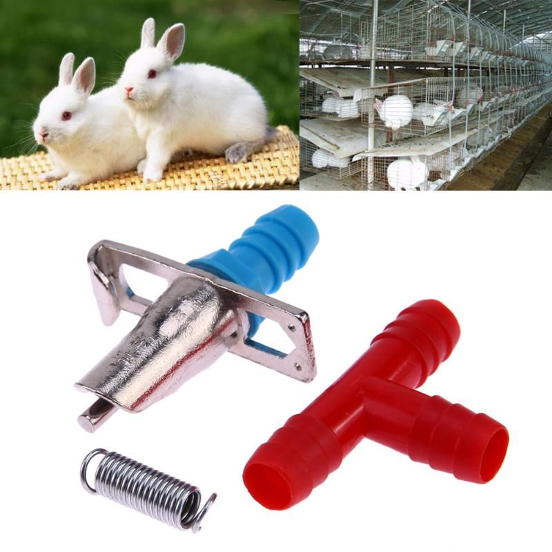 20Pcs/lot Automatic Feeders Nipple Rabbit Nipple Water Drinker Waterer Rodents Poultry Feeder Tools for Farm Animals