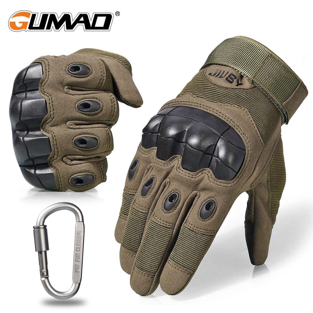 Extérieur écran tactile militaire tactique gants armée dur Knuckle Sport randonnée chasse Airsoft cyclisme tir complet doigt gant