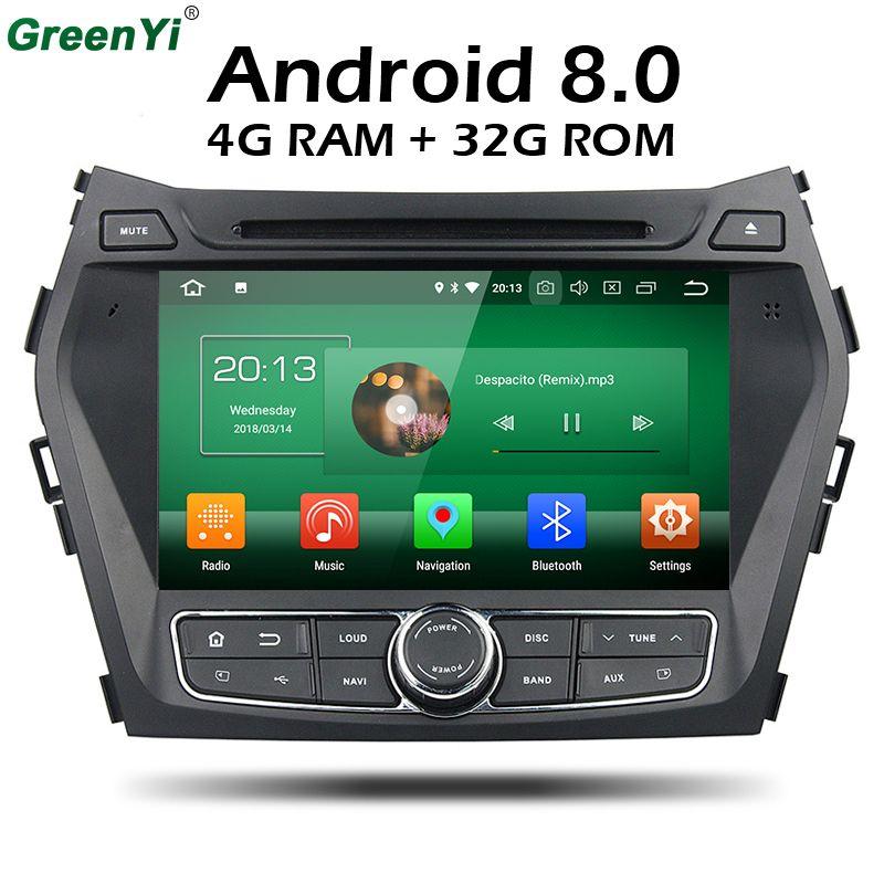 1024*600 4 GB RAM Octa-core Android 8.0 Auto-DVD GPS für HYUNDAI IX45 2013 SANTA FE Santafe Navigation Radio Kopfeinheit