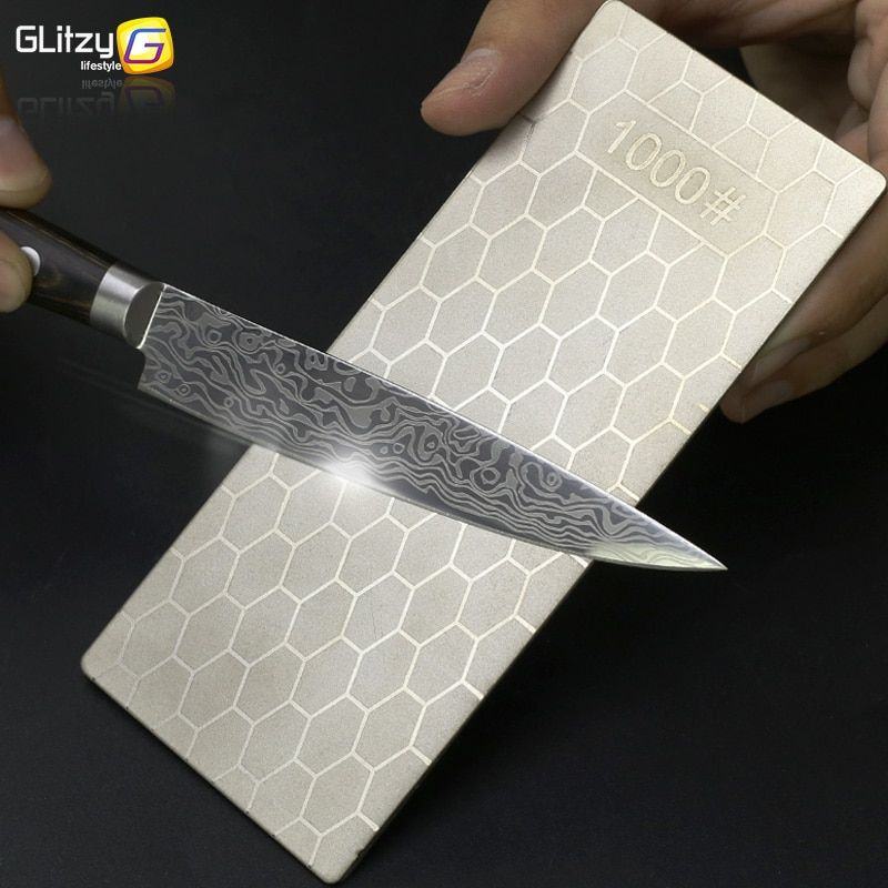 Diamond Knife Sharpening Stone 400# 1000# Knife Sharpener Ultra-thin Honeycomb Surface Whetstone Kitchen Grindstone Tool Set